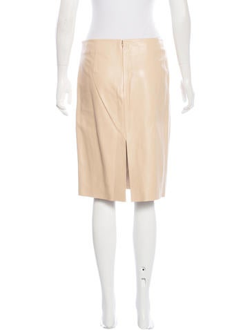 moschino cheap and chic leather pencil skirt clothing
