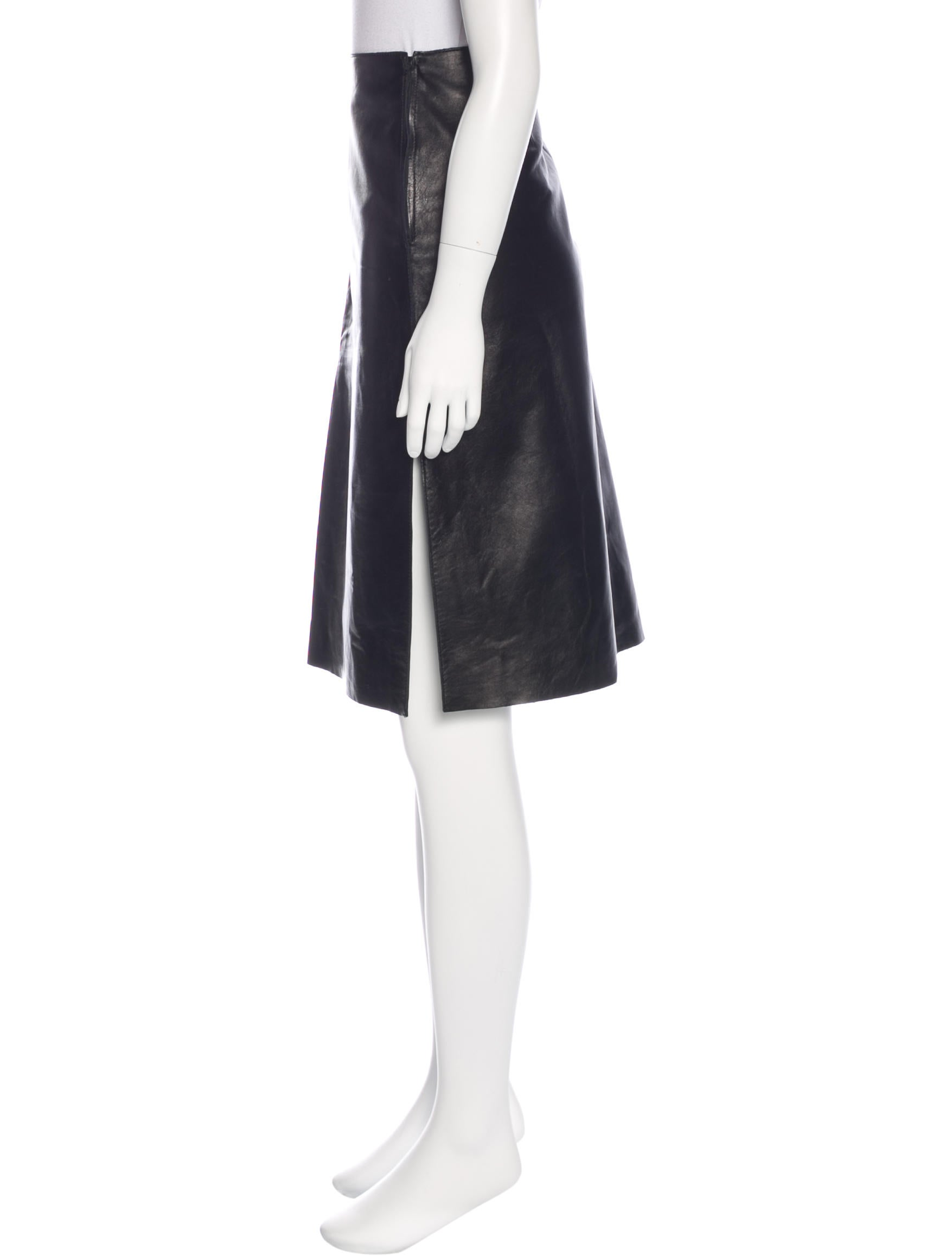 moschino cheap and chic leather pencil skirt w tags