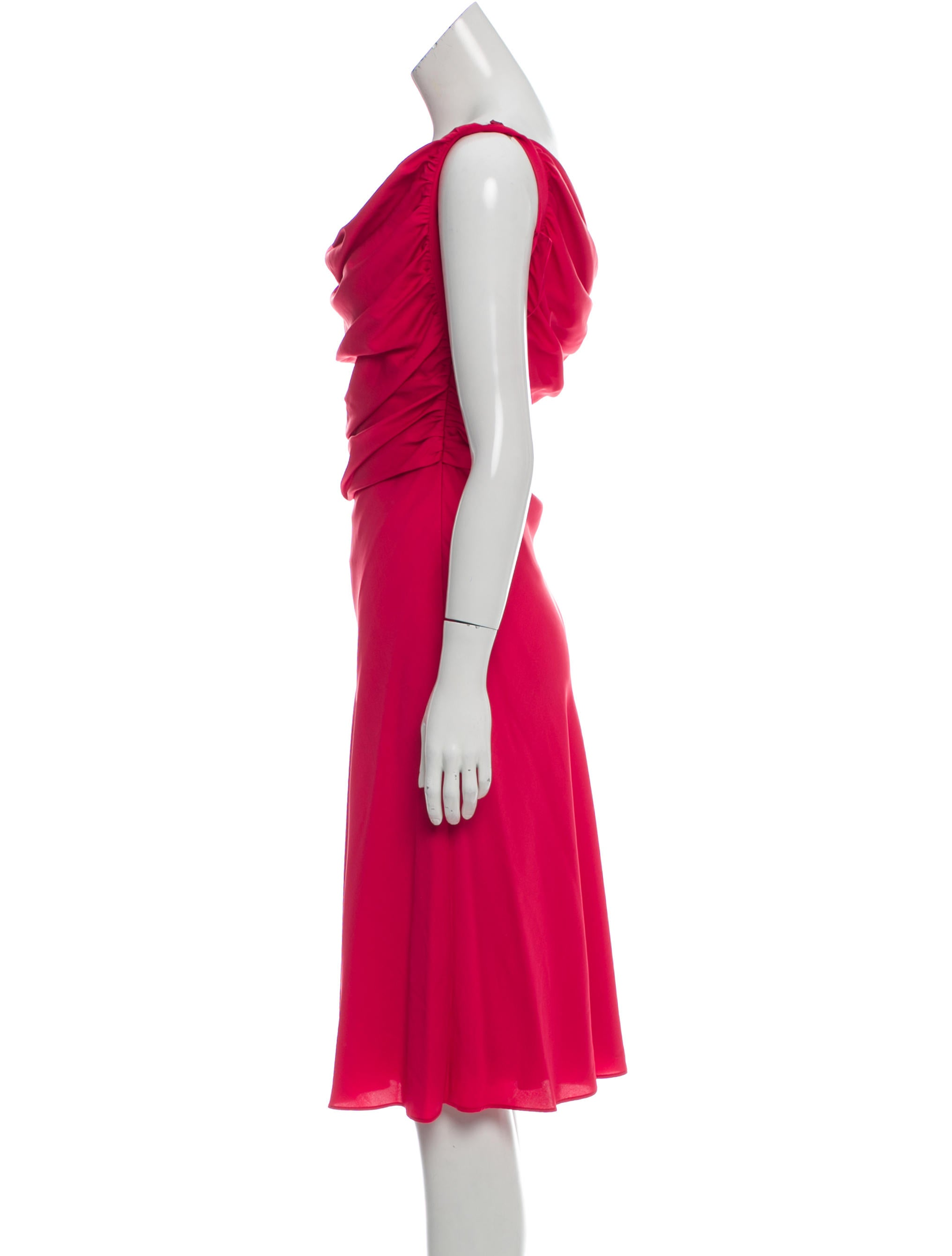 Moschino cheap and chic silk ruched dress clothing Inexpensive chic