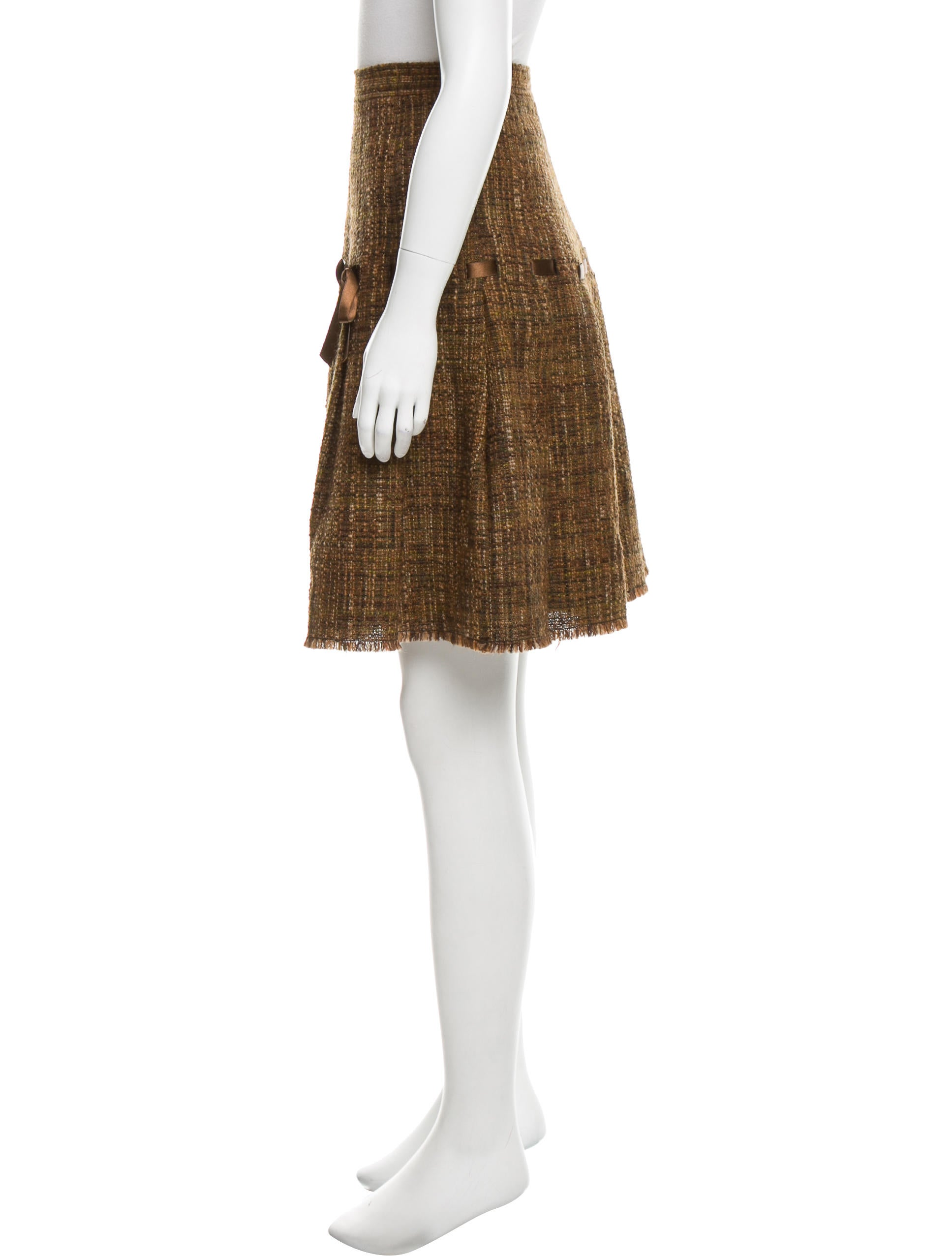 Moschino cheap and chic tweed wool skirt clothing Inexpensive chic