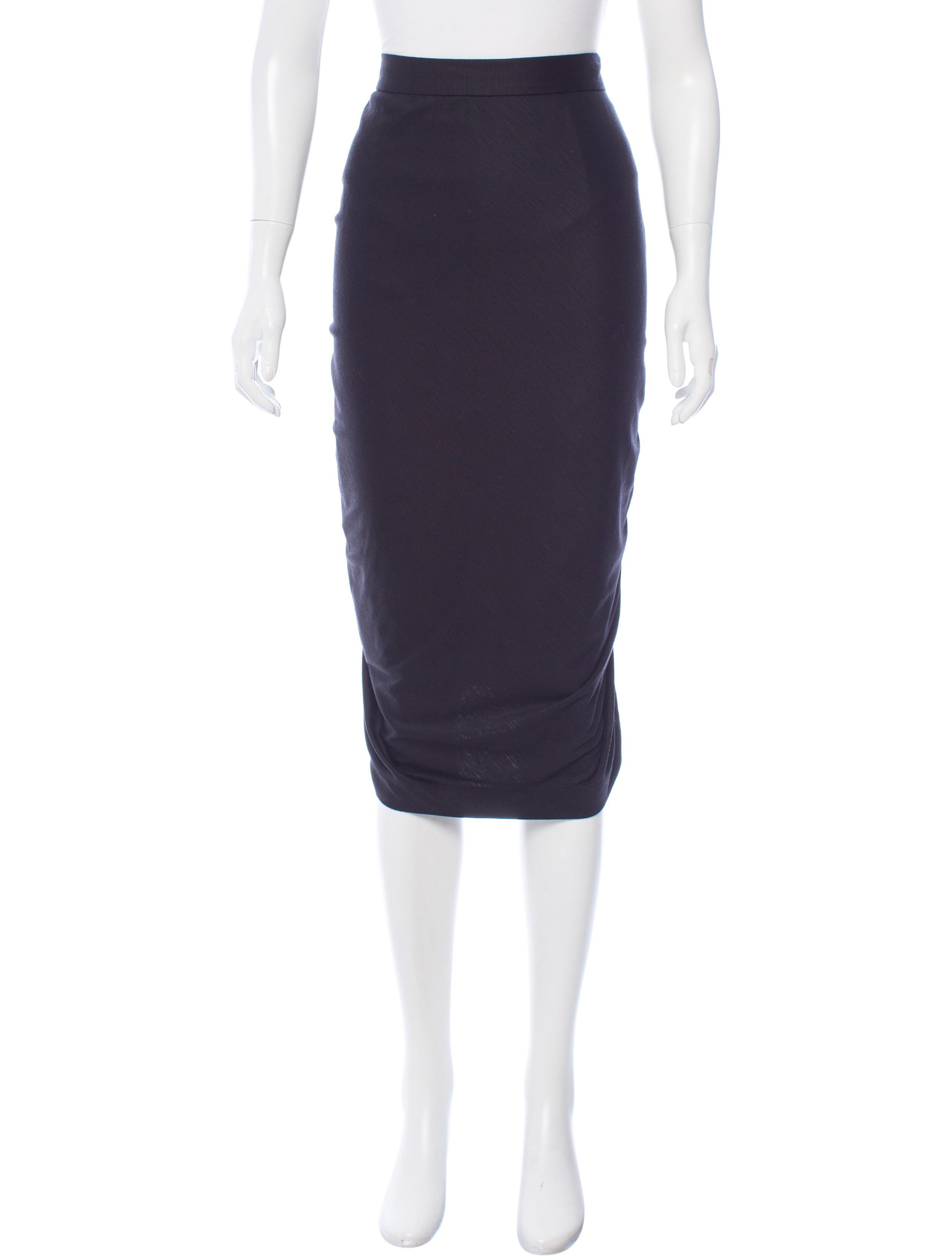 moschino cheap and chic midi wool skirt clothing