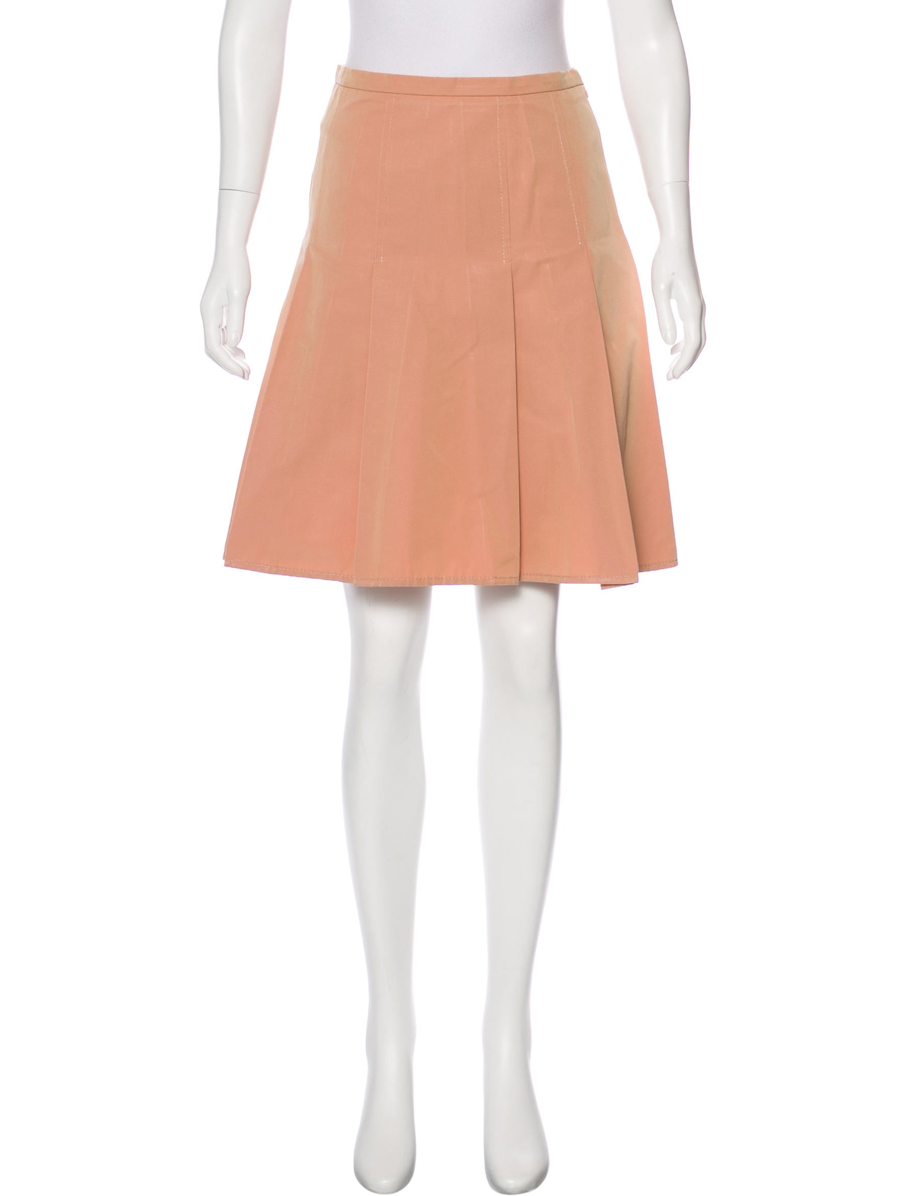 moschino cheap and chic pleated knee length skirt