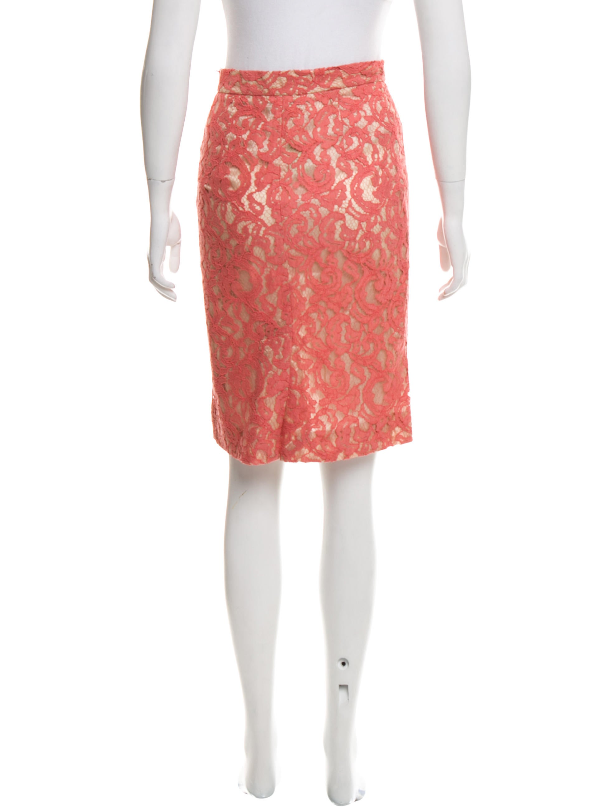 moschino cheap and chic lace knee length skirt clothing