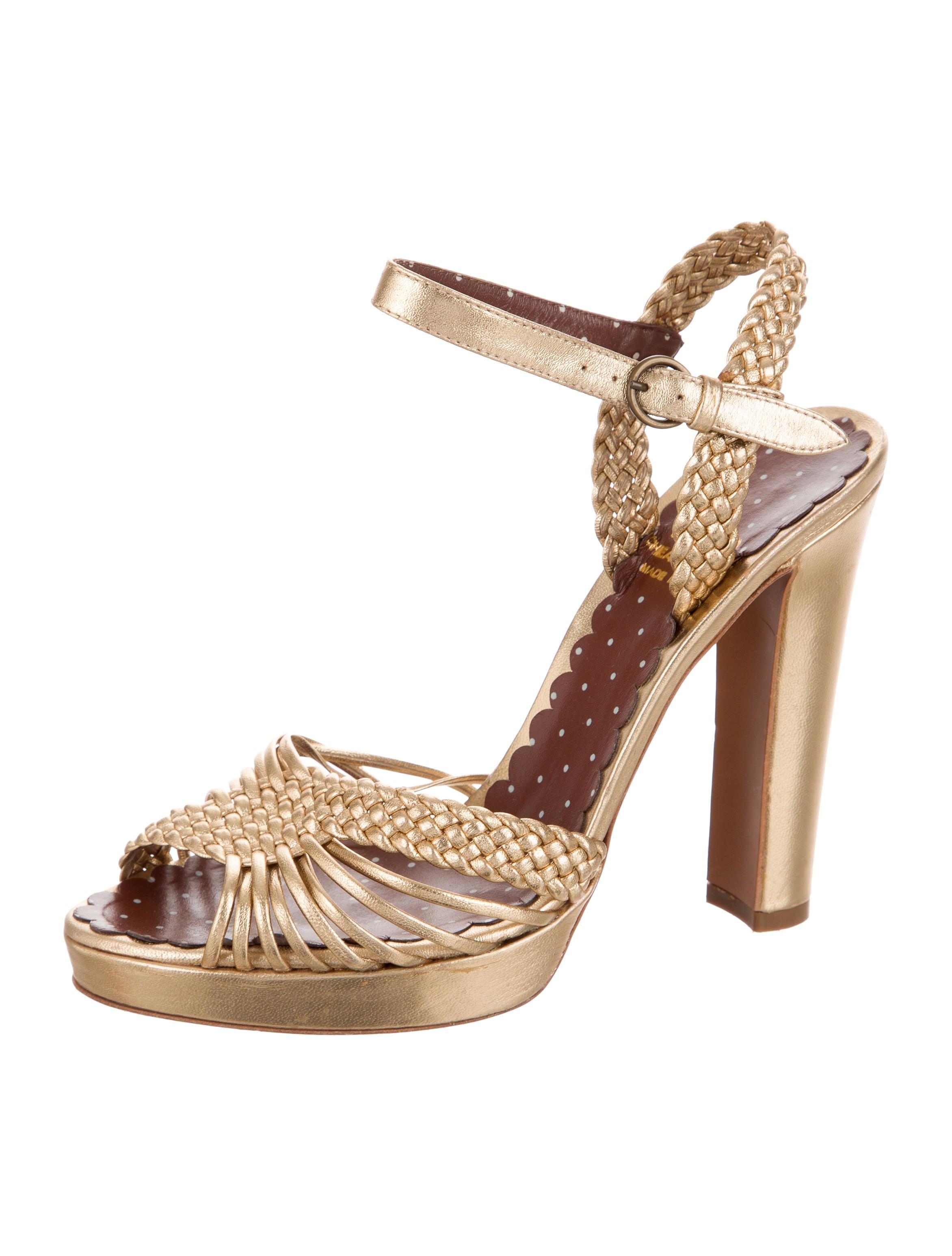 sale popular Moschino Cheap and Chic Metallic Platform Sandlas free shipping fashion Style store sale online cheap sale outlet footlocker 7cfWArhLep
