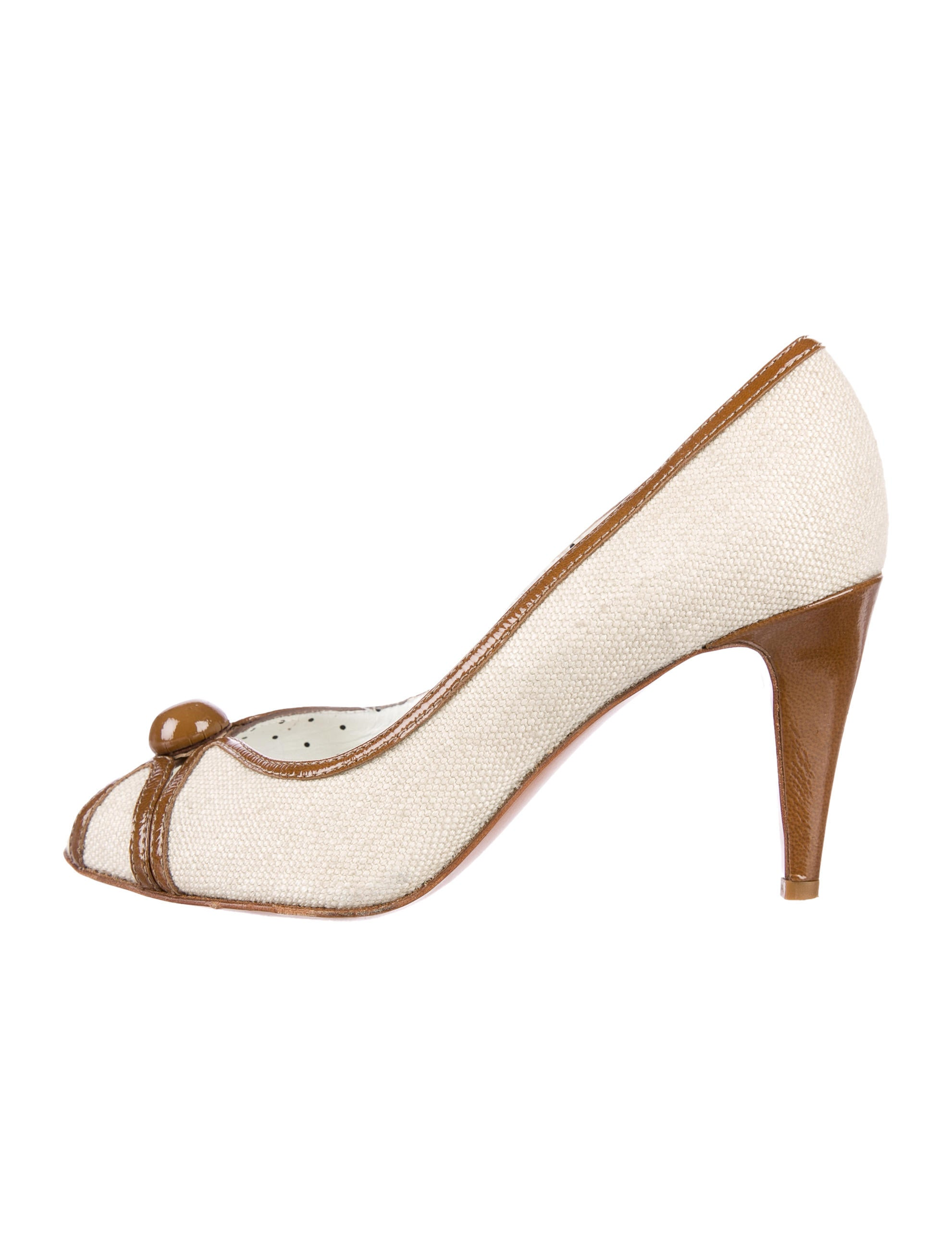 Moschino Cheap and Chic Canvas Slingback Pumps clearance 100% authentic V0UCO
