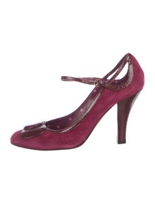 59c1ec5f5878 Moschino Cheap and Chic. Suede Round-Toe Pumps. Size  US ...