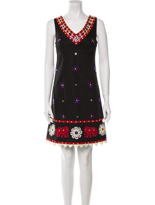 Moschino Cheap and Chic Printed Mini Dress Black