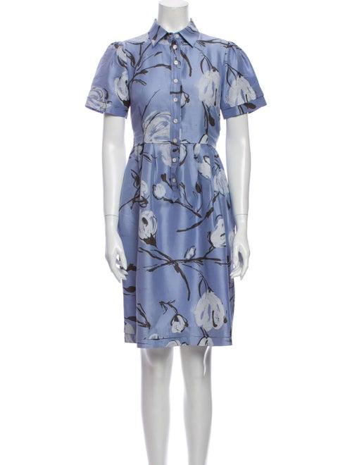 Moschino Cheap and Chic Silk Knee-Length Dress Blu