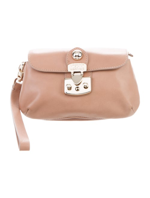 Moschino Cheap and Chic Mini Leather Wristlet Gold