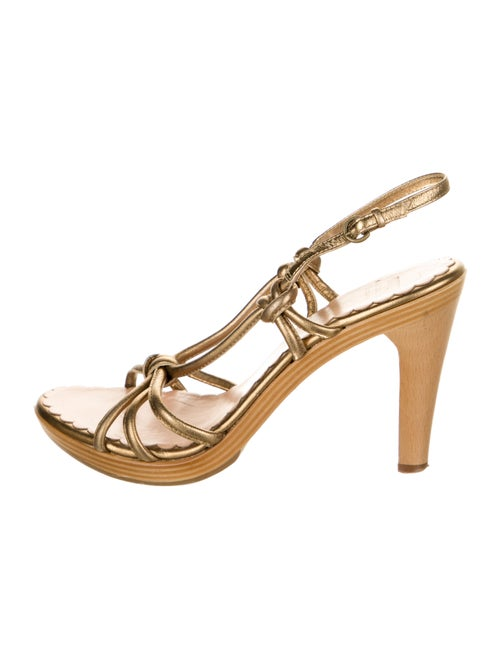 Moschino Cheap and Chic Leather Slingback Sandals