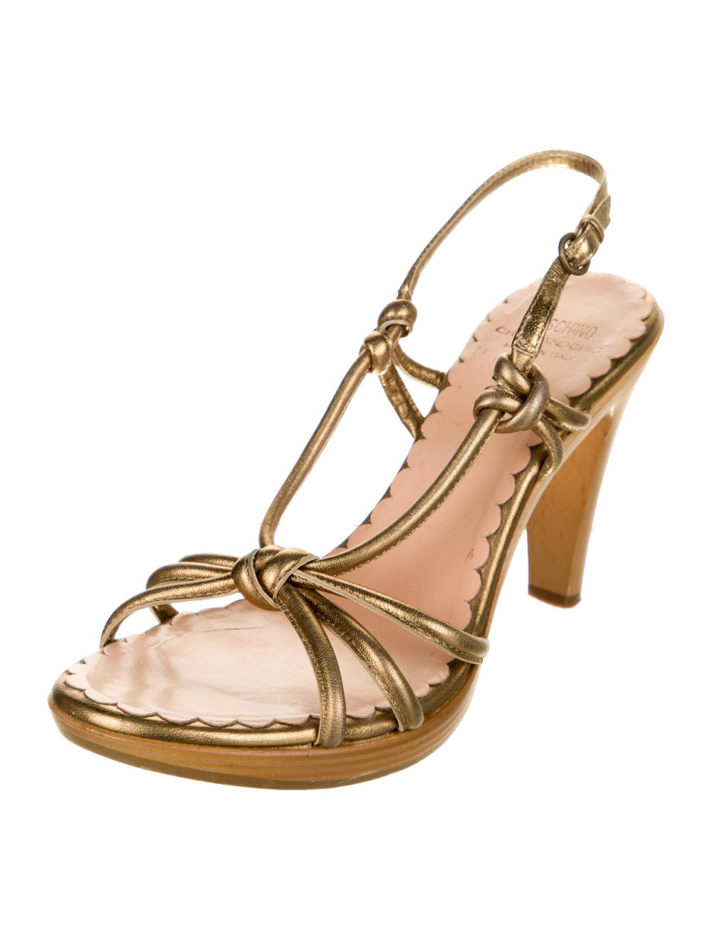 Moschino Cheap and Chic Leather Slingback Sandals - image 2