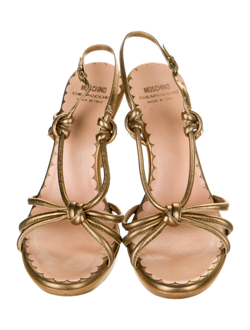 Moschino Cheap and Chic Leather Slingback Sandals - image 3