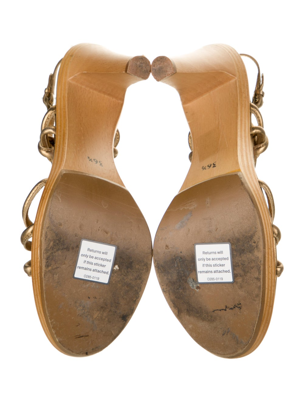 Moschino Cheap and Chic Leather Slingback Sandals - image 5