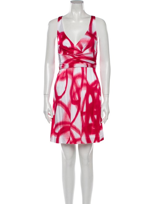 Moschino Cheap and Chic Printed Mini Dress Red