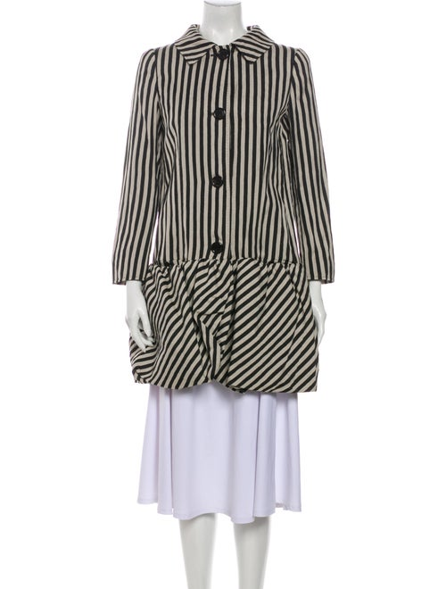 Moschino Cheap and Chic Striped Coat Black