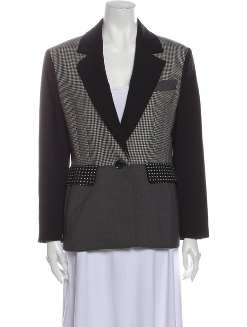 Moschino Cheap and Chic Colorblock Pattern Blazer