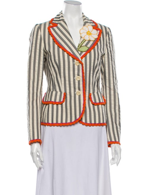 Moschino Cheap and Chic Striped Blazer Grey