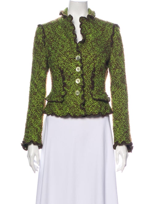 Moschino Cheap and Chic Tweed Pattern Blazer Brown