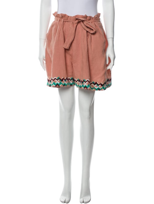 All Things Mochi Linen Knee-Length Shorts Pink
