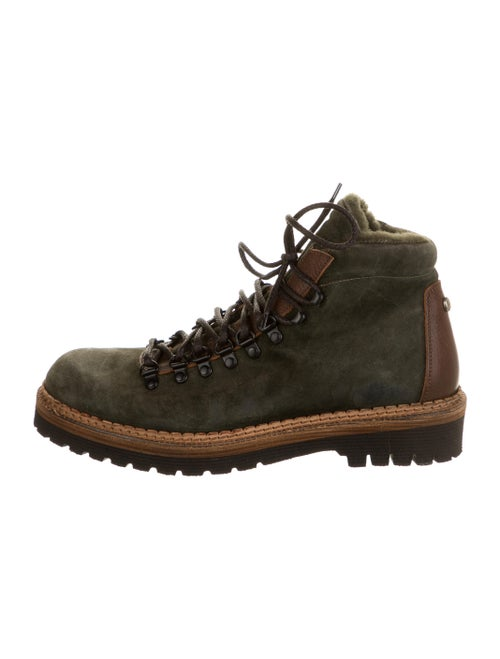 Montelliana Suede Hiking Boots Green