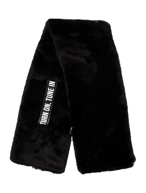Moussy Faux-Fur Stole Black