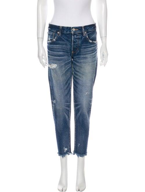 Moussy Mid-Rise Straight Leg Jeans Blue