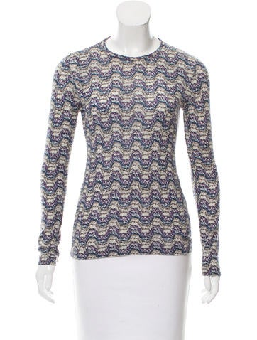 Missoni Sport Patterned Wool Top None