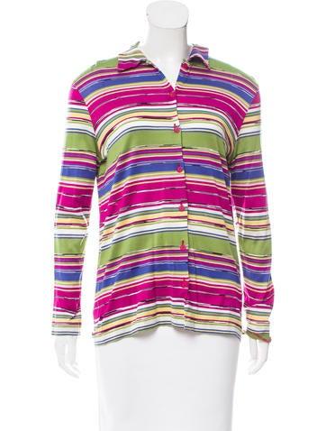 Missoni Sport Stripe Button-Up Top None