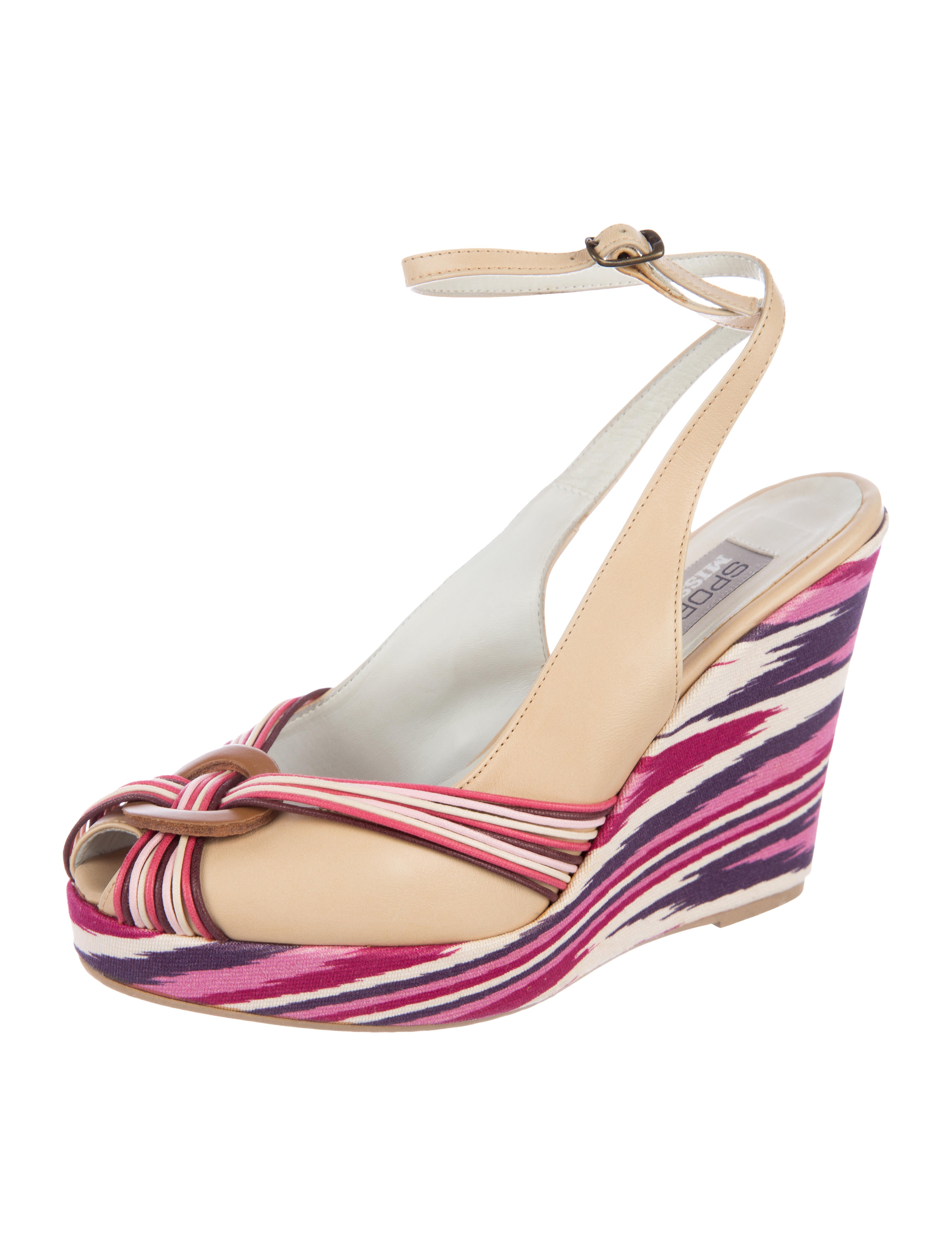 under $60 for sale Missoni Sport Peep-Toe Wedge Pumps outlet visit new free shipping huge surprise footaction for sale vb3nNgOj