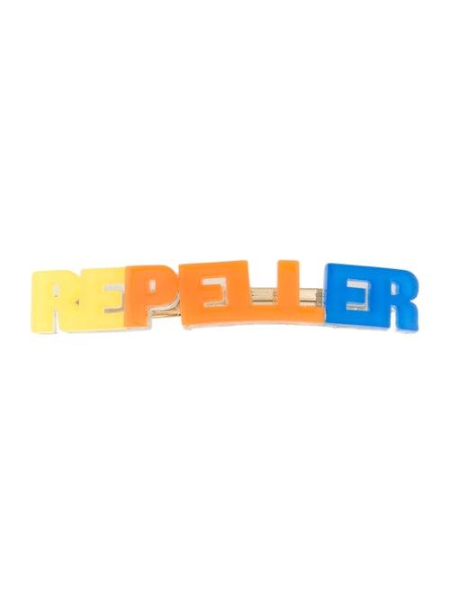 Man Repeller Acetate Logo Barrette Orange
