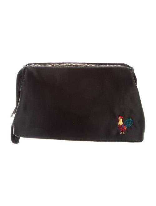 Man Repeller Satin Cosmetic Bag Black