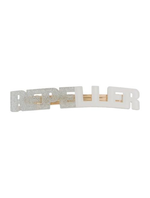 Man Repeller Acetate Logo Barrette Silver