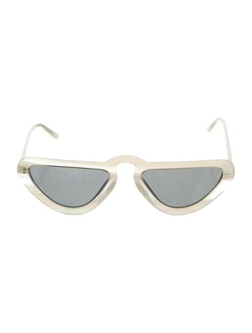 Man Repeller Ivory Cat-Eye Sunglasses