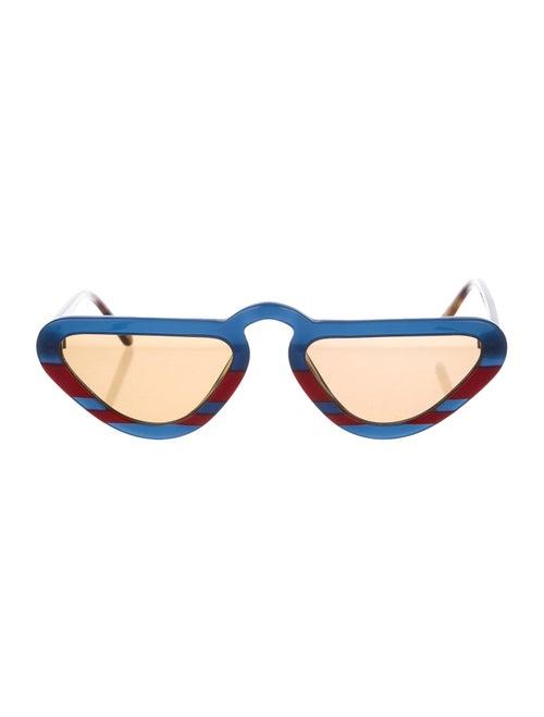 Man Repeller 2018 Unibrow Sunglasses Blue