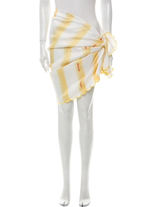 Man Repeller Striped Cover-Up Yellow