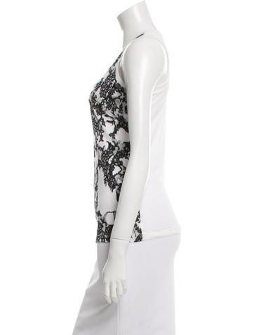 Lace Print Sleeveless Top