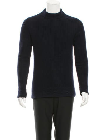 McQ by Alexander McQueen Rib Knit Long Sleeve Sweater None
