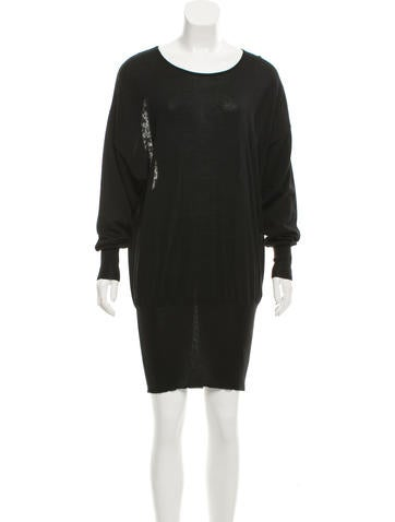 McQ by Alexander McQueen Wool Lace-Accented Dress w/ Tags None