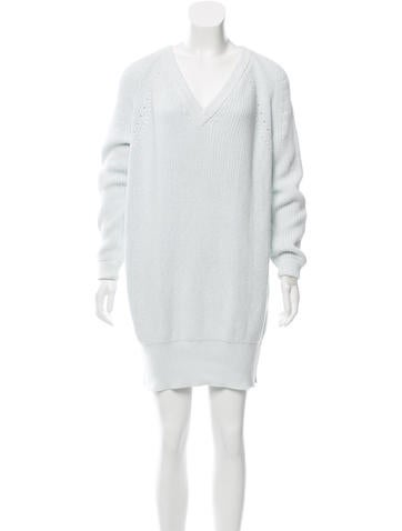 McQ by Alexander McQueen Rib Knit Sweater Dress None