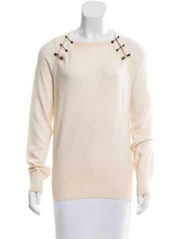 McQ by Alexander McQueen Wool Embellished Sweater None
