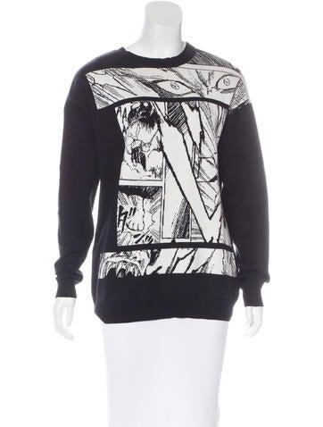 McQ by Alexander McQueen Comic Intarsia Sweater None