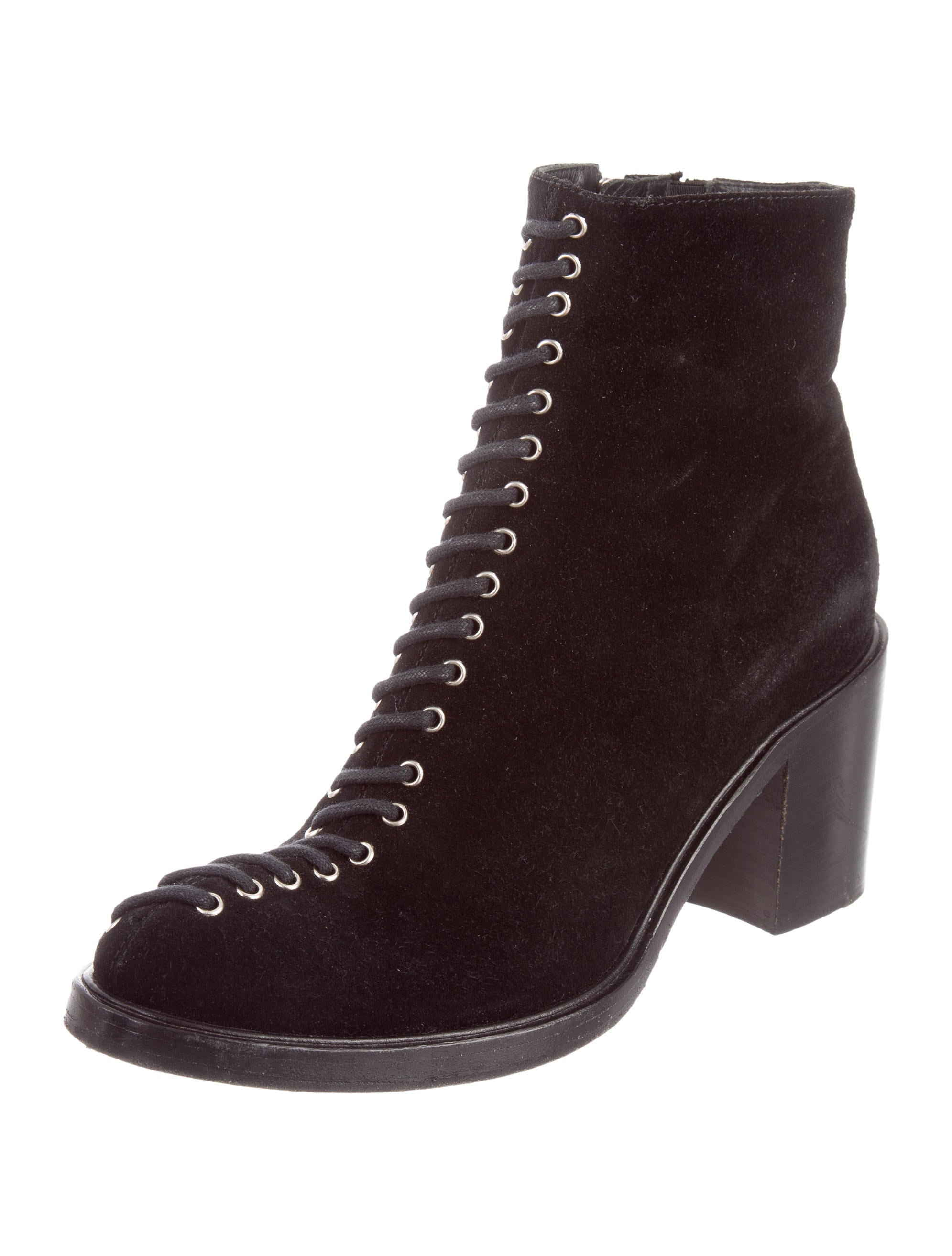mcq by mcqueen suede lace up ankle boots shoes