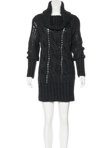 McQ by Alexander McQueen Cable Knit Sweater Dress None