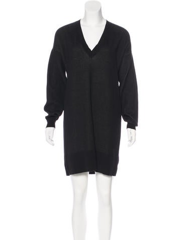 McQ by Alexander McQueen Long Sleeve Sweater Dress None