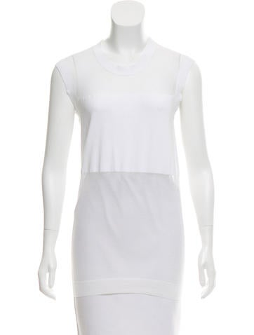 McQ by Alexander McQueen Sleeveless Sheer Top w/ Tags None