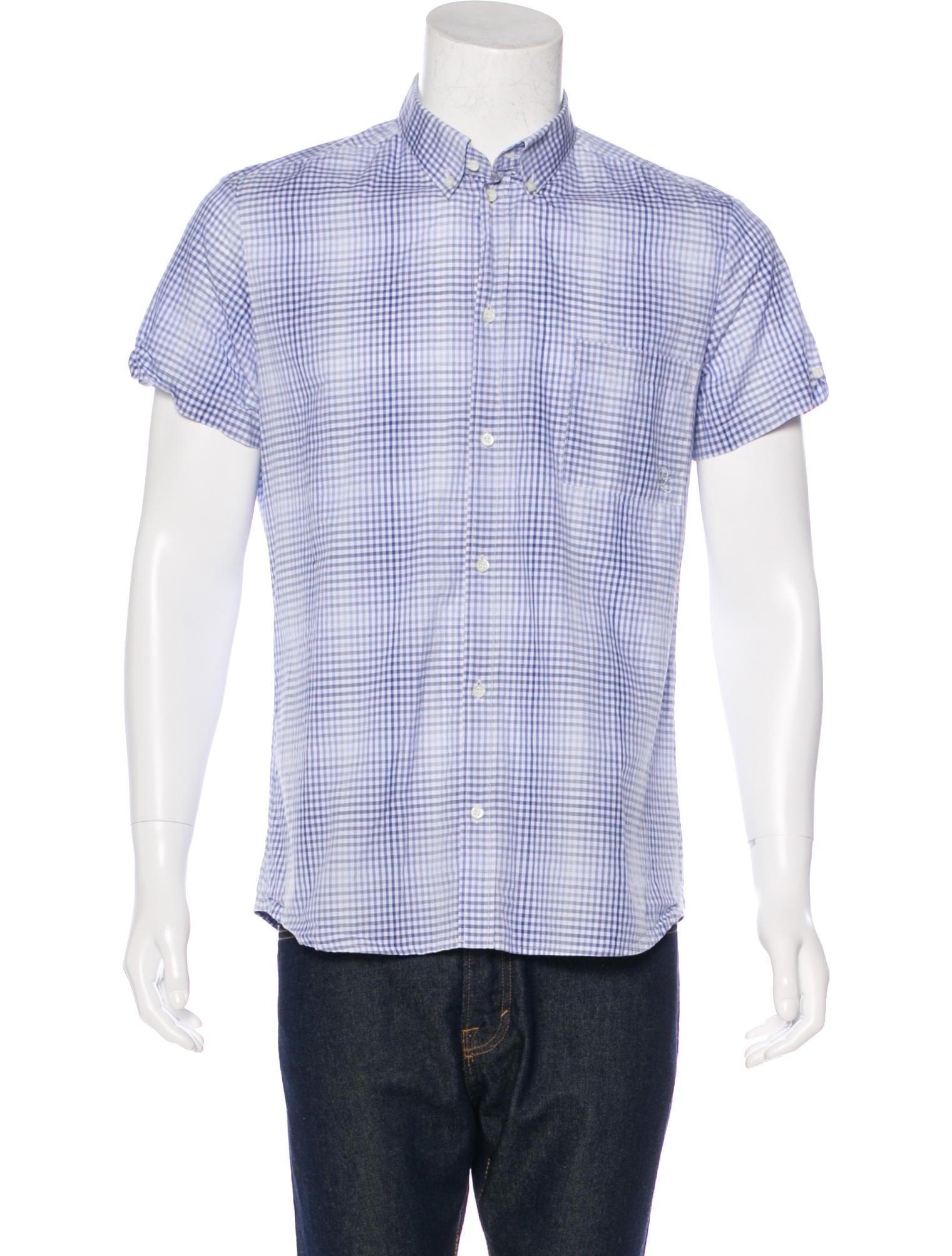 Mcq by alexander mcqueen gingham woven shirt clothing for Alexander mcqueen shirt men