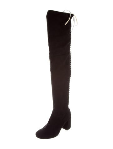 purchase cheap online McQ Alexander McQueen McQ by Alexander McQueen Suede Over-The-Knee Boots outlet order s71GVK5