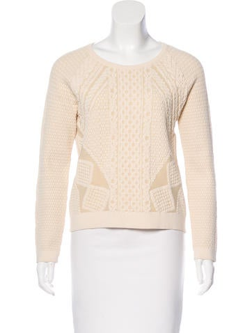 McQ by Alexander McQueen Jacquard Knit Sweater None