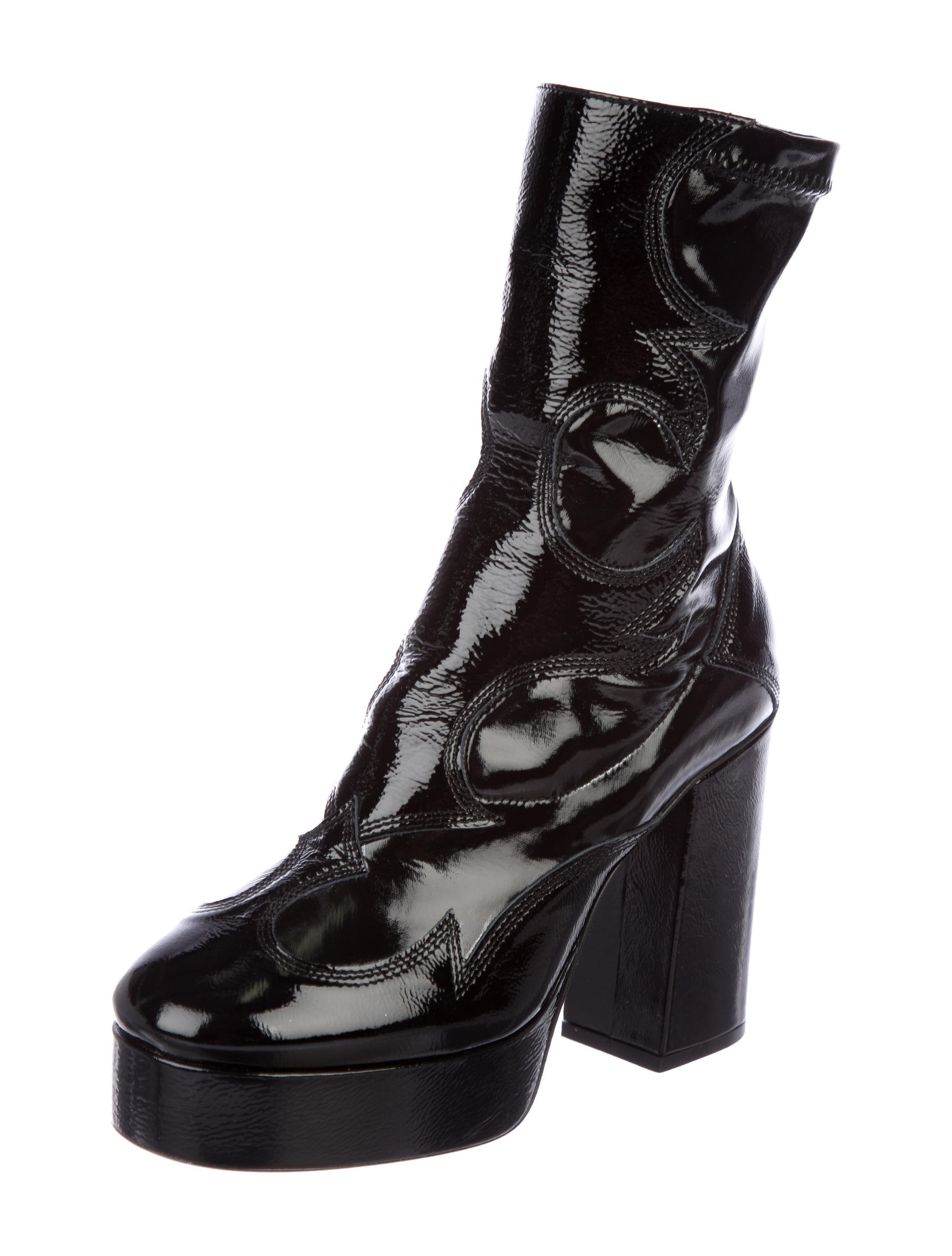 eastbay online visit sale online Alexander McQueen Platform Leather Booties w/ Tags cheap price cost official sale online QCzOtcn