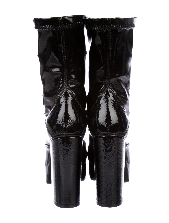 McQ Alexander McQueen McQ by Alexander McQueen 2017 Jean Blaze Platform Boots w/ Tags eastbay sale online outlet for sale buy sale online v3CTdONyE